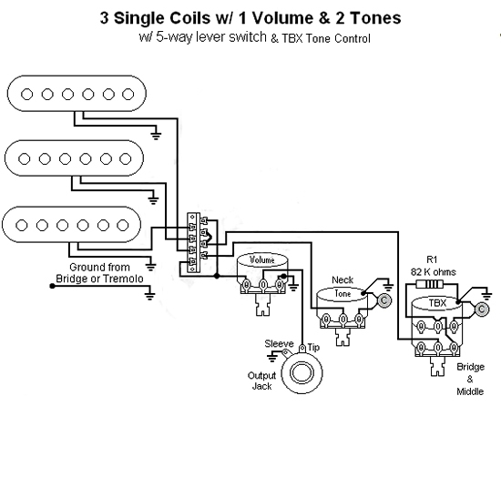 Wiring Diagram For Guitar Tone Control : B guitar fender tbx tone control wiring diagram no